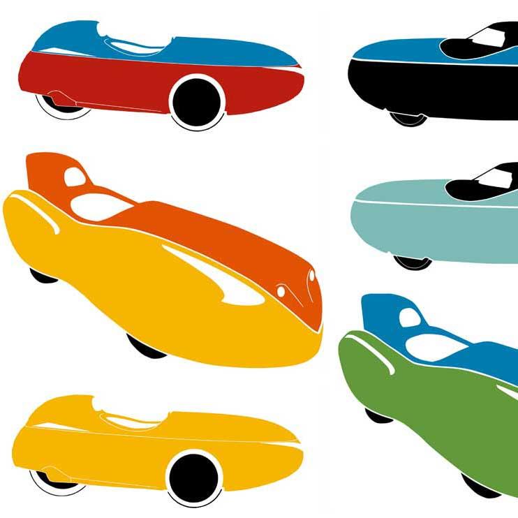 Kleurenconfigurator voor velomobielen